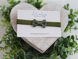 Laço Gravatinha Mini Verde Militar