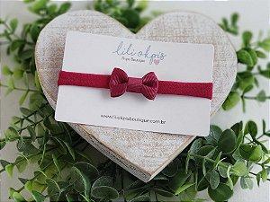 Laço Gravatinha Mini Marsala