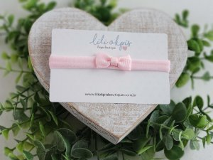 Laço Gravatinha Micro Rosa Bebê