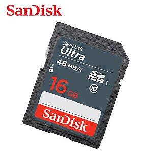CARTÃO DE MEMÓRIA 16GB SDHC SANDISK ULTRA