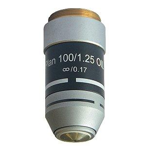 Objetiva Plana 100x (retrátil, óleo) - TA-0213-C