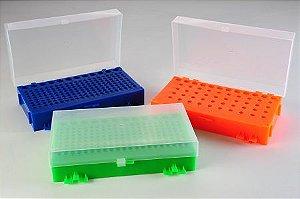 Rack Dupla Face para Microtubos PCR Cores Sortidas - K30-003