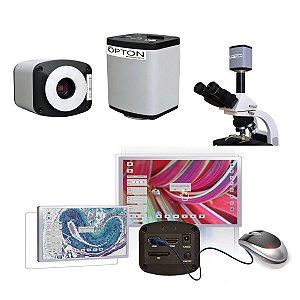 Câmera para microscópio - Alta Resolução Saída USB HDMI e Cartão de Memória - TA-0124-HDL