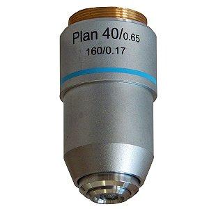 Objetiva 40X Plana Retrátil - TA-0212-PL