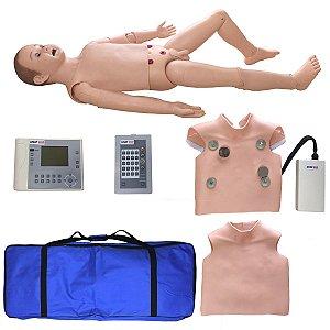 Manequim Infantil Bissexual Simulador Treino Suporte Av ACLS
