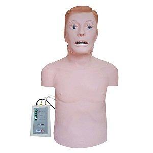 Simulador Torso Adulto para RCP e Intubação - TGD-4005-I