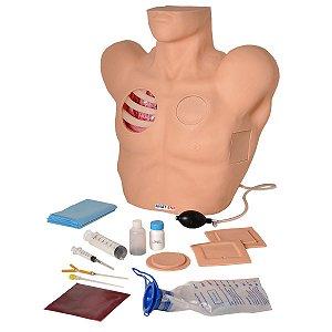 Simulador - Torso para Treino de Drenagem Pleural - TGD-4067