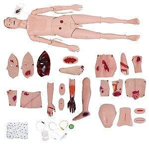 Manequim Bissexual com Órgãos Internos Simulador para Cuidados de Enfermagem e Trauma - TGD-4111