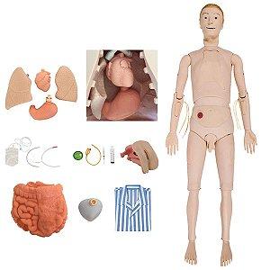 Manequim Bissexual com Órgãos Internos Treino Enfermagem