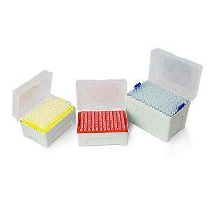 Ponteira  C/ Filtro Transp. Estéril, Livre de DNASE, RNASE E PIROGÊNIOS - Rack c/ 96 unidades