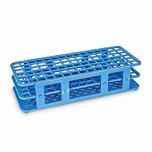 Estante em Polipropileno para 90 Tubos de 13 mm Azul