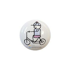 Puxador 1753 Cerâmico Menino Bicicleta