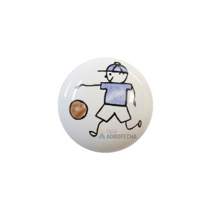 Puxador 1754 Cerâmico Menino Futebol