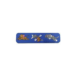 Puxador 5503 96mm Alça PVC Tom e Jerry Azul