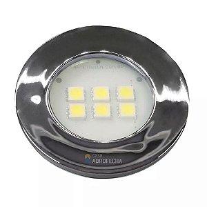 Luminária Pontual Circular com 6 Super LEDs