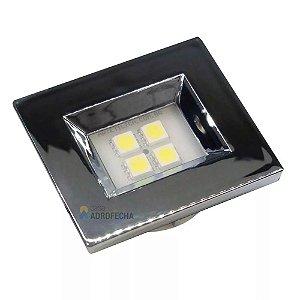 Luminária Pontual Retangular com 4 Super LEDs