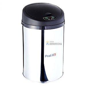 Lixeira Inox Polido com Sensor 12 Litros
