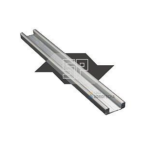 Trilho Inferior para Vitrines BK-026 com 3m