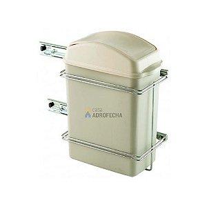 Lixeira Simples 8,8L 4258 com Corrediça Telescópica 260x350x150mm