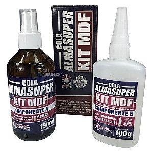 Cola Instantânea Almasuper 100g com Catalisador - KIT MDF