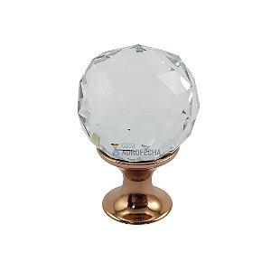 Puxador Ponto Orquídea Cristal 30mm