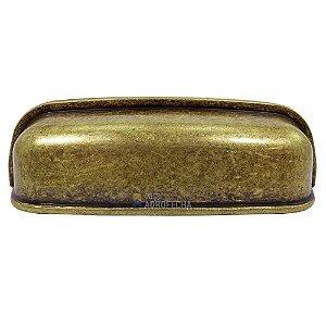 Puxador Concha Celeste 96mm Ouro Velho