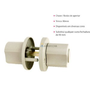 Fechadura Tubular TX 90mm ABS Lockwell