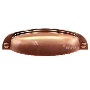 Puxador Concha Colonial 115 Rosê Escovado 96mm