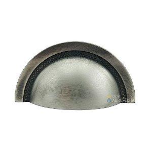 Puxador Zen Shell Níquel Vecchio 64mm