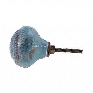 Puxador Cerâmico Venus Victrix 1126103 40mm Azul