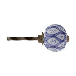 Puxador Ponto Indiano Cerâmico Venus Victrix 927231 30mm Azul