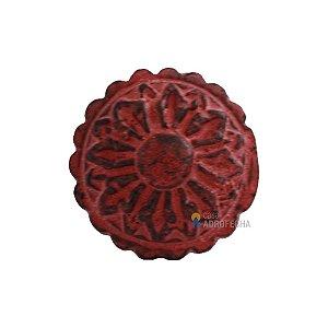 Puxador Indiano de Metal Venus Victrix CD5007 40mm Vermelho