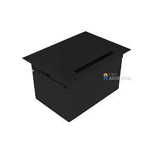 Caixa de mesa QM 17000.00 ABS 4 blocos Open Box Preta Brilho