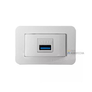 Tomada Retangular para Dados USB 3.0 Lumitek