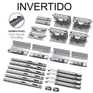 Kit Sistema de Correr Rometal SS 200 Invertido 3 Portas
