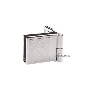 Dobradiça para Portas de Vidro 39x30mm Cromada