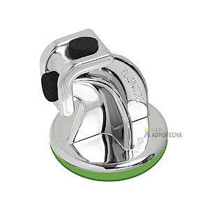 Amortecedor Batente para Portas Plástico Autocolante Cromado