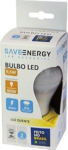Lâmpada Bulbo - E27 - 9,5W - 2.700K