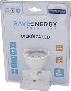 Lâmpada Dicróica - GU10 - 4,8W - 2.700K