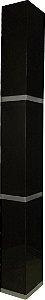 Coluna Enna Tripla - 180x20x20 - Preta