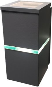 Arandela de Alumínio - 21x10x11cm - Branca
