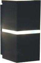 Arandela de Alumínio - 21x10x11cm - Preta