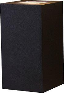 Arandela de Alumínio 15x8x8cm - Preta
