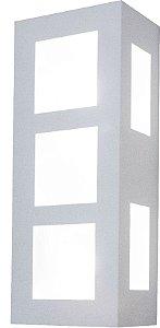 Arandela de Alumínio - 30x12x8cm - Branca