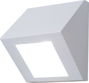 Arandela de Alumínio - 13x12x8cm - Branca