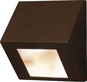 Arandela de Alumínio - 13x12x8cm - Preta