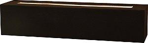 Arandela de Alumínio - 33x7x8cm - Preta