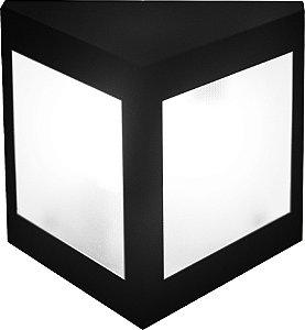 Arandela de Alumínio - 23x22x15cm - Preta