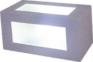 Arandela de Alumínio - 11x11x23cm - Branca