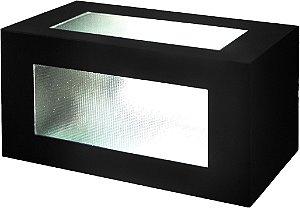 Arandela de Alumínio - 11x11x23cm - Preta